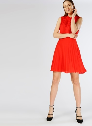 North Of Navy Kolsuz Kısa Elbise Kırmızı